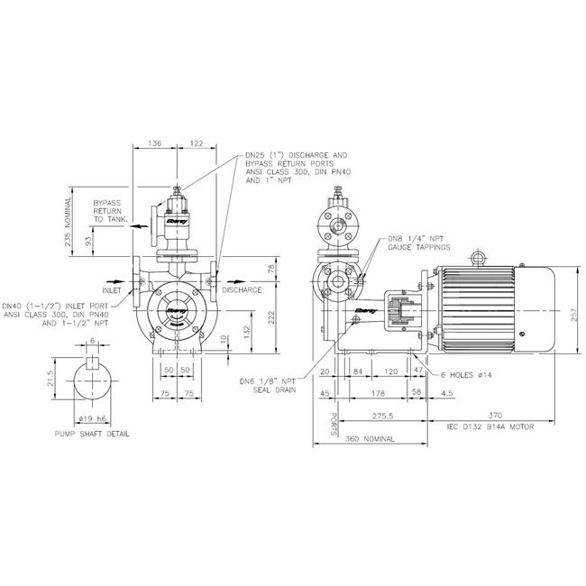 Насосный агрегат Ebsray RC40 с двигателем 5,5 кВт