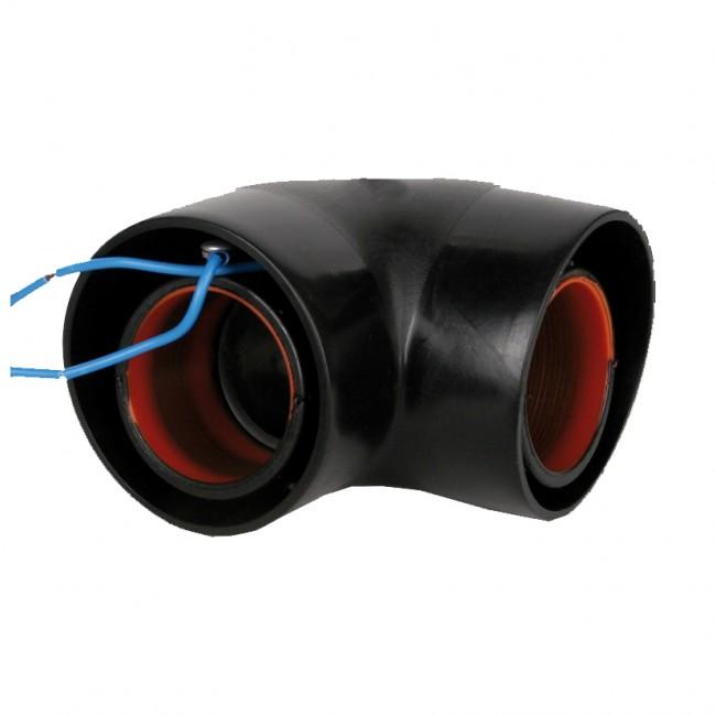 Отвод Durapipe PLX 90 градусов двустенный (с проводом)