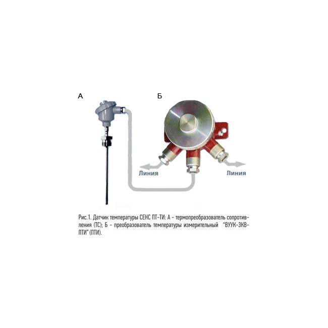 Датчик температуры  (от -200 до +850 °С)